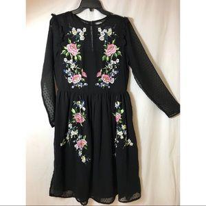 ASOS floral lace black dress